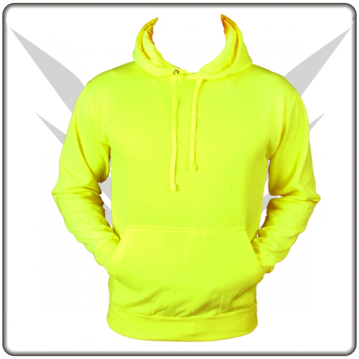 neon gelb sweatshirt pullover mit kapuze online shop zum. Black Bedroom Furniture Sets. Home Design Ideas